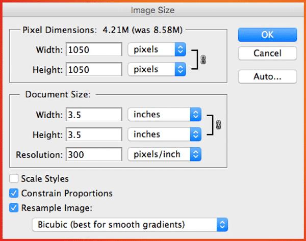 Photoshop Image Size - Change Document Size